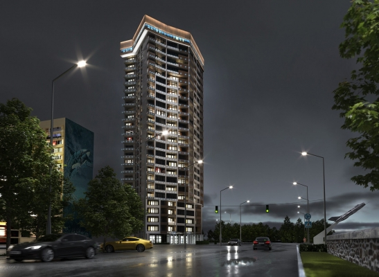 Construction of a 25-storey residential building